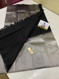 Black pure kanchipuram temple border sarees
