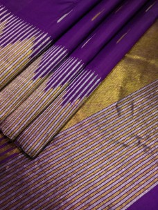 Dark purple pure handloom kanchipuram silk sarees