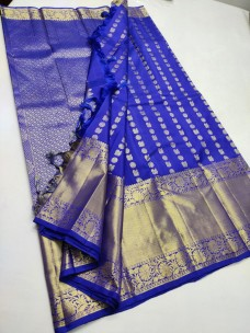 Royal Blue pure kanchipuram bridal silk sarees