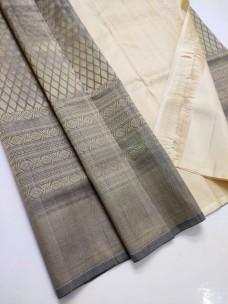 Grey pure handloom kanchipuram silk sarees