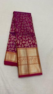 Dark magenta pure kanchipuram bridal silk sarees