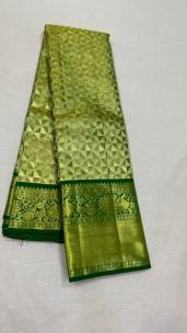 Green pure kanchipuram bridal silk sarees