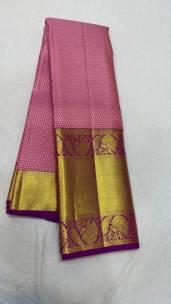 Onion pink pure kanchipuram wedding silk sarees