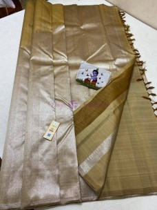 Kaaki pure kanchipuram rising temple border sarees