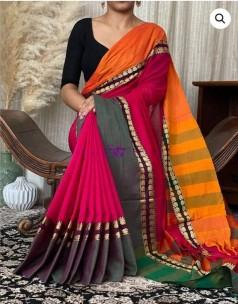Red pure narayanpet cotton sarees