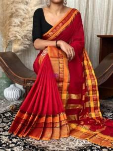 Red narayanpet cotton sarees