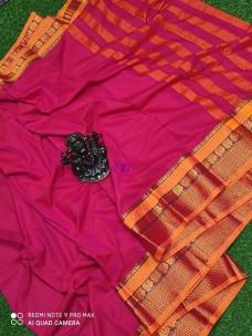 Pink pure narayanpet cotton sarees