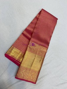 Red mix pink pure kanchipuram silk sarees