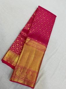 Pink pure kanchipuram silk sarees