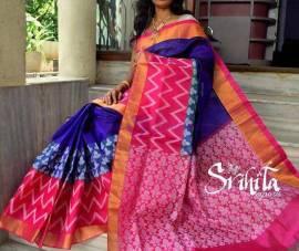Royal Blue kuppadam malai silk sarees