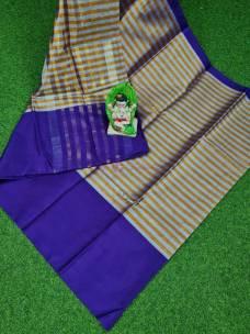 Indigo uppada tissue by cotton sarees