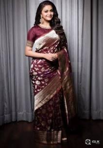 Brown pure kanchipuram silk sarees