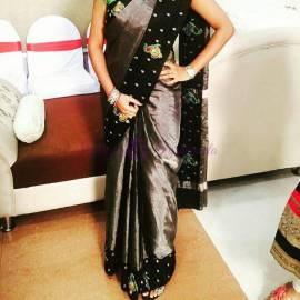 Black uppada tissue sarees