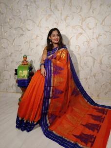 Orange semi Kuppadam sarees