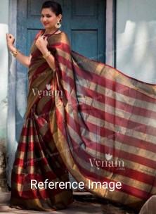 Maroon red uppada tissue sarees