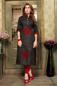 Black kadhi cotton kurtis