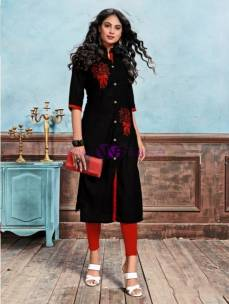 Black pure cotton kurtis