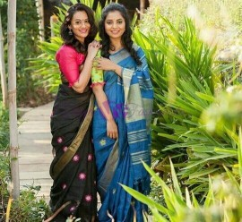 Linen by linen embroidered sarees