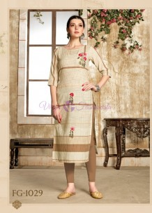 Chiku with brown pure cotton kurtis