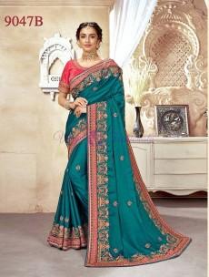 Wedding designer silk embroidered sarees