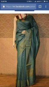 Dark green munga tussar silk sarees