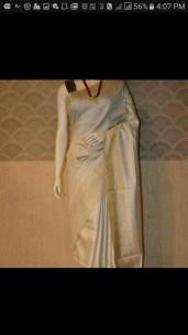 half white munga tussar silk sarees