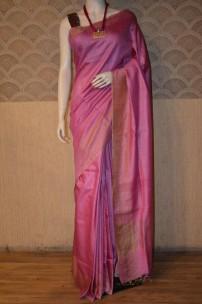 Pink munga tussar silk sarees