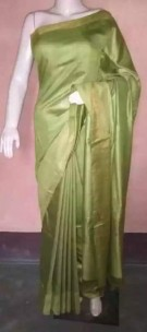 Light green munga tussar silk sarees
