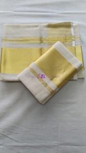 Pure Kerala handloom tissue setmundu 4 inch border