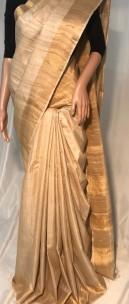 Pure desi tussar silk Plain sarees
