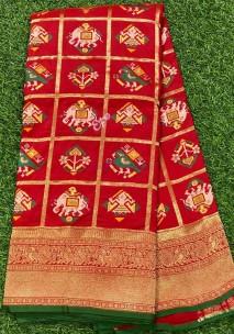 Red pure banarasi patola silk sarees