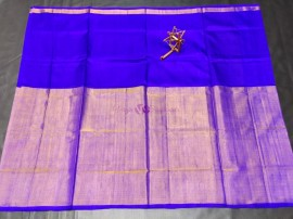 Dark blue uppada half and half tissue sarees