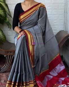 Grey rayon silk sarees