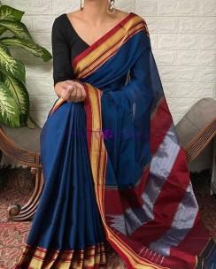 Blue Rayon silk sarees