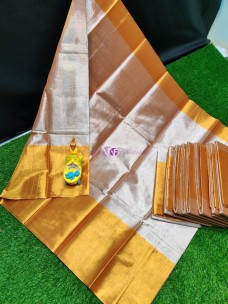 Uppada gold big border tissue cotton sarees