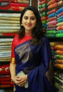 Navy blue and pink pure soft silk sarees