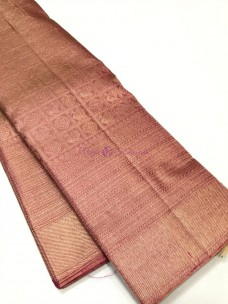 Onion pink pure kanchipuram 2 gram gold silk sarees