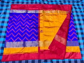 Blue pochampally ikat silk sarees