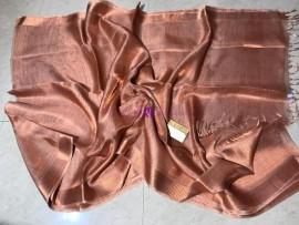 Copper pure Tussar tissue silk sarees