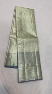 Silver with grey pure kanchipuram silk sarees