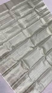 Silver pure kanchipuram silk sarees