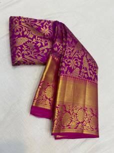 Magenta pure wedding silk sarees