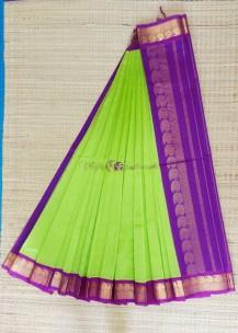 Green pure kanchipuram silk cotton sarees