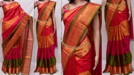 Red and multi-colour uppada sarees