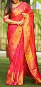 Red Uppada sarees with butti