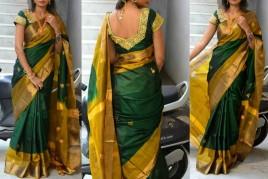 Uppada with butti work sarees