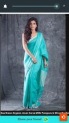 100 counts Linen sarees