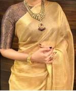 Tussar tissue silk sarees