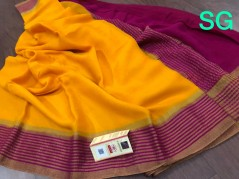 Weightless pure mysore wrinkle crepe sarees