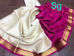 Weightless pure Mysore crepe silk sarees